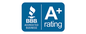 logo for impressive exteriors better business bureau A+ rating