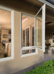 picture of a casement window opened wide