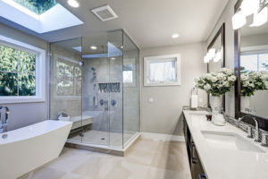 picture of a bathroom with Coronado windows installed